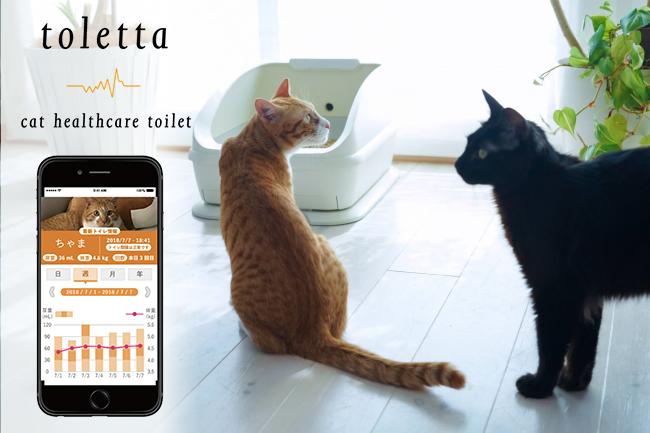 猫のオシッコと体重をモニタリングiot猫トイレトレッタで病気の